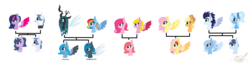 Size: 2504x636 | Tagged: safe, artist:artistgirl0007, applejack, fancypants, fluttershy, pinkie pie, queen chrysalis, rainbow dash, soarin', trixie, twilight sparkle, oc, changeling, changeling queen, changepony, hybrid, appleshy, base used, chrysadash, crossover, crossover shipping, family tree, female, interspecies offspring, kirby (character), lesbian, magical lesbian spawn, male, offspring, parent:applejack, parent:fancypants, parent:fluttershy, parent:pinkie pie, parent:queen chrysalis, parent:rainbow dash, parent:soarin', parent:trixie, parent:twilight sparkle, parents:appleshy, parents:chrysadash, parents:trixin', parents:twipants, shipping, straight, trixin', twipants
