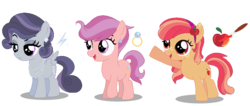 Size: 785x333 | Tagged: artist:awoomarblesoda, earth pony, female, filly, magical lesbian spawn, oc, oc only, offspring, parent:apple bloom, parent:button mash, parent:diamond tiara, parent:rumble, parents:buttonbloom, parent:scootaloo, parents:rumbelle, parents:scootiara, parent:sweetie belle, pegasus, pony, safe, simple background, transparent background