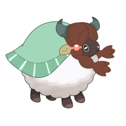 Size: 850x850 | Tagged: safe, edit, editor:yellowpony, yona, sheep, wooloo, yak, comparison, cute, female, pokemon sword and shield, pokémon, simple background, solo, speculation, standing, white background, windswept mane, woolyona, yonadorable