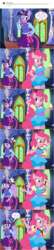 Size: 800x3714 | Tagged: safe, artist:flash equestria photography, pinkie pie, twilight sparkle, alicorn, anthro, earth pony, comic, cupcake, equestria girls outfit, exclamation point, food, hot sauce, interrobang, multiple arms, pinkie being pinkie, pinkie physics, question mark, red eyes, show accurate anthro, twilight sparkle (alicorn)