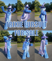 Size: 3586x4250 | Tagged: safe, artist:judhudson, trixie, human, pony, unicorn, cape, clothes, cosplay, costume, female, for sale, fursuit, hat, irl, irl human, mare, photo, trixie's cape, trixie's hat