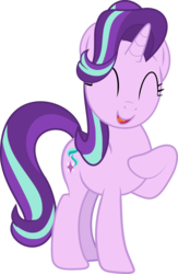 Size: 2530x3887 | Tagged: artist:futuremattley, cute, eyes closed, female, glimmerbetes, happy, mare, marks for effort, open mouth, pony, safe, simple background, solo, starlight glimmer, transparent background, unicorn, vector