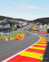 Size: 750x948 | Tagged: apple bloom, circuit de spa francorchamps, derby racers, eau rouge, irl, photo, ponies in real life, pony, race track, raidillon, safe, scootaloo, the cart before the ponies