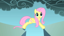 Size: 1280x720 | Tagged: dragonshy, fluttershy, :o, open mouth, safe, screencap, solo, surprised