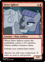 Size: 375x523 | Tagged: ccg, edit, female, magic the gathering, male, maudbriar, maud pie, mudbriar, petrification, rock, rockbriar, safe, shipping, spoiler:s09e11, straight, student counsel, that pony sure does love rocks, trading card, trading card edit