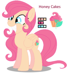 Size: 386x412 | Tagged: safe, artist:awoomarblesoda, oc, oc:honey cakes, pegasus, pony, base used, female, magical lesbian spawn, mare, offspring, parent:fluttershy, parent:pinkie pie, parents:flutterpie, simple background, solo, transparent background