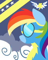 Size: 3500x4375 | Tagged: artist:graphene, clothes, female, goggles, lineless, mare, minimalist, modern art, pegasus, pony, rainbow dash, safe, solo, uniform, wonderbolts, wonderbolts uniform