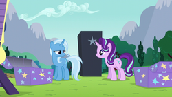Size: 1280x720 | Tagged: safe, screencap, starlight glimmer, trixie, pony, unicorn, no second prances