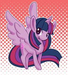 Size: 300x331 | Tagged: safe, artist:soeru, twilight sparkle, alicorn, pony, abstract background, cute, female, mare, pixiv, solo, spread wings, twiabetes, twilight sparkle (alicorn), wings