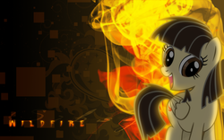 Size: 1920x1200 | Tagged: safe, artist:omgklint, artist:vexx3, edit, wild fire, pegasus, pony, female, mare, sibsy, solo, vector, wallpaper, wallpaper edit