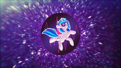 Size: 1920x1080 | Tagged: artist:redshotcreation, dj pon-3, female, safe, solo, space, vinyl scratch, wallpaper
