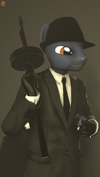 Size: 1080x1920   Tagged: safe, artist:tfc0234, oc, oc only, anthro, 3d, anthro oc, male, solo, source filmmaker, tommy gun