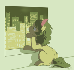 Size: 900x854 | Tagged: artist:laceymod, earth pony, female, mare, oc, oc:invidia, pony, safe, solo, teary eyes