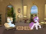 Size: 5995x4477 | Tagged: safe, artist:kotwitz, oc, oc:aria taitava, oc:ponkoslava, earth pony, pony, unicorn, candle, magic
