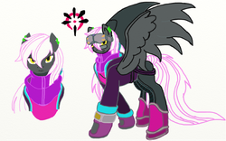 Size: 897x561 | Tagged: artist:kurogetsuouji, male, oc, oc:black ashtrail, safe, stallion