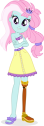 Size: 3129x8869 | Tagged: safe, artist:punzil504, kerfuffle, equestria girls, i'm on a yacht, rainbow roadtrip, spoiler:eqg series (season 2), spoiler:rainbow roadtrip, absurd resolution, amputee, clothes, cute, equestria girls-ified, feet, female, fufflebetes, miniskirt, peg leg, prosthetic leg, prosthetic limb, prosthetics, sandal, simple background, skirt, smiling, solo, transparent background, vector