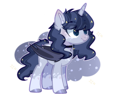 Size: 1256x986   Tagged: safe, artist:jxst-alexa, oc, oc only, alicorn, bat pony, bat pony alicorn, pony, alicorn oc, base used, bat pony oc, blushing, cute, cute little fangs, fangs, female, mare, solo, white outline