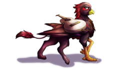 Size: 3840x2160 | Tagged: artist:lupiarts, commission, digital art, edgy, griffon, griffon oc, guitar, high res, musical instrument, oc, oc only, safe, simple background, solo, transparent background