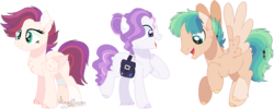 Size: 1010x402 | Tagged: artist:emabases, base used, colored hooves, female, magical lesbian spawn, magical threesome spawn, male, mare, multiple parents, oc, offspring, parent:big macintosh, parent:dumbbell, parent:pinkie pie, parent:rainbow dash, parents:dumbdash, parents:trixiepie, parents:twishimmermac, parent:sunset shimmer, parent:trixie, parent:twilight sparkle, pony, saddle bag, safe, simple background, stallion, transparent background