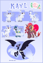 Size: 5029x7208 | Tagged: safe, artist:xwhitedreamsx, oc, oc only, oc:kayl, crystal pony, dracony, hybrid, pegasus, pony, absurd resolution, armor, crystallized, female, mare, nightmarified, reference sheet, royal guard armor, two toned wings, wings
