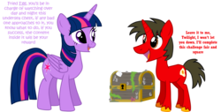 Size: 2736x1387 | Tagged: alicorn, artist:shadymeadow, chest, male, oc, oc:fried egg, pony, safe, simple background, stallion, transparent background, twilight sparkle, twilight sparkle (alicorn), unicorn