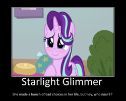 Size: 1075x860 | Tagged: artist:thejboy88, blushing, cute, edit, glimmerbetes, motivational poster, pony, safe, screencap, starlight glimmer, wrong aspect ratio