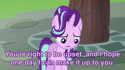 Size: 500x281 | Tagged: apology, every little thing she does, pony, regret, sad, safe, starlight glimmer