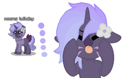 Size: 566x356 | Tagged: artist:beanehpony, flower, oc, oc:moons lullaby, pony, pony town, safe, unicorn