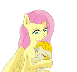 Size: 1563x1463 | Tagged: adopted offspring, artist:cmacx, duo, female, filly, floppy ears, fluttermom, fluttershy, mother and daughter, oc, oc:orchid, offspring, parent:big macintosh, parent:fluttershy, parents:fluttermac, pony, safe, simple background, sleeping, teary eyes, white background