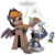 Size: 3000x3000   Tagged: safe, artist:php104, rarity, oc, oc only, oc:calamity, oc:littlepip, pegasus, pony, unicorn, fallout equestria, arm behind head, battle saddle, blushing, clothes, comic, cowboy hat, dashite, dialogue, eyes closed, fanfic, fanfic art, female, floppy ears, glowing horn, gun, handgun, hat, holster, hooves, horn, levitation, little macintosh, magic, male, mare, ministry mares, ministry mares statuette, optical sight, pipbuck, raised hoof, revolver, rifle, scope, simple background, sitting, speech bubble, stallion, standing, telekinesis, transparent background, vault suit, weapon, wings