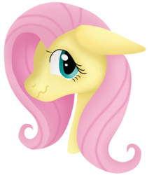 Size: 1536x1744 | Tagged: artist:tonyseil, bust, female, floppy ears, fluttershy, looking at you, mare, nervous, pony, portrait, safe, simple background, solo, three quarter view, transparent background, wavy mouth