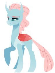 Size: 1280x1691 | Tagged: artist:rxiantool, deviantart watermark, obtrusive watermark, ocellus, older, safe, simple background, smiling, solo, transparent background, watermark