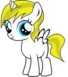Size: 841x949   Tagged: safe, artist:anonymous, edit, alicorn, pony, /mlpol/, aryan pony, cute, female, filly, horn, looking, smiling, standing, wings