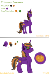 Size: 2048x3072 | Tagged: 2edgy4u, alicorn, artist:colorcodetheartist, bat pony, bat pony alicorn, comparison, eyeshadow, halloween, holiday, hybrid, improvement, makeup, oc, oc:princess samara, outdated design, redraw, safe