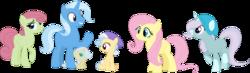 Size: 1280x375 | Tagged: safe, artist:klawiee, fluttershy, trixie, pony, family, female, lesbian, parents:trixieshy, shipping, trixieshy