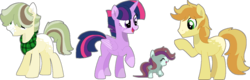 Size: 1280x408   Tagged: safe, artist:klawiee, artist:strawberry-spritz, braeburn, twilight sparkle, oc, oc:apple terra, alicorn, pony, base used, family, female, male, next generation, parents:twiburn, shipping, straight, twiburn, twilight sparkle (alicorn)