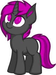 Size: 640x859 | Tagged: artist:zeka10000, blank flank, canon, cheek fluff, cheeks, colt, cute, ear fluff, looking up, male, no pupils, oc, ocbetes, oc only, oc:vadimcomrade, pony, request, requested art, safe, simple background, smiling, solo, transparent background, unicorn