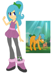 Size: 407x558 | Tagged: artist:selenaede, artist:xfaithyhedgefoxx, base used, bubbles (g1), eqg promo pose set, equestria girls, equestria girls-ified, equestria girls style, g1, g1 to equestria girls, generation leap, safe