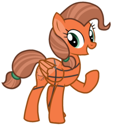 Size: 961x1060 | Tagged: safe, artist:rainbow eevee, ball pony, object pony, original species, pegasus, pony, basketball, basketball (bfb), battle for bfdi, battle for dream island, bfb, bfdi, female, mare, ponified, ponytail, simple background, solo, sports, transparent background