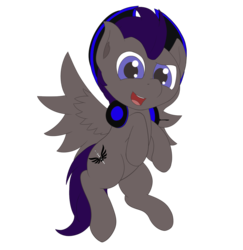 Size: 1050x1080 | Tagged: artist:ponyxwright, hat, headphones, oc, oc only, oc:valkrian, pegasus, pony, safe, simple background, solo, transparent background