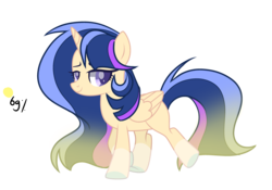 Size: 3633x2539 | Tagged: alicorn, artist:thesmall-artist, female, mare, oc, oc:harmony, offspring, parent:flash sentry, parents:flashlight, parent:twilight sparkle, pony, safe, simple background, solo, transparent background