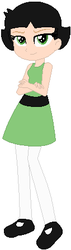 Size: 127x449 | Tagged: artist:selenaede, artist:user15432, barely eqg related, base used, buttercup (powerpuff girls), cartoon network, clothes, crossover, dress, equestria girls, equestria girls-ified, equestria girls style, green dress, human, leggings, powerpuff girls 2016, safe, shoes, the powerpuff girls