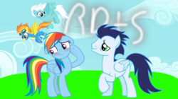 Size: 1280x719 | Tagged: artist:mlplary6, female, fleetfoot, male, pegasus, pony, rainbow dash, safe, shipping, soarin', soarindash, spitfire, straight