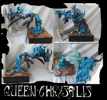 Size: 3000x2808 | Tagged: safe, artist:sourcherry, queen chrysalis, changeling, changeling queen, craft, female, sculpture, solo, traditional art
