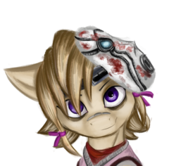 Size: 3176x3003 | Tagged: artist:qbellas, bags under eyes, borderlands 2, bust, clothes, earth pony, pony, safe, simple background, solo, tiny tina, transparent background
