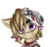 Size: 3176x3003   Tagged: safe, artist:qbellas, earth pony, pony, bags under eyes, borderlands 2, bust, clothes, simple background, solo, tiny tina, transparent background