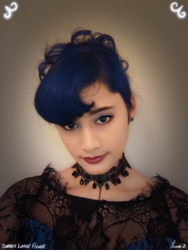 Size: 961x1280 | Tagged: safe, artist:darkest-lunar-flower, edit, princess luna, human, clothes, cosplay, costume, dress, irl, irl human, photo, photo edit