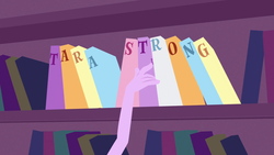 Size: 1920x1080 | Tagged: book, bookshelf, credits, equestria girls, equestria girls (movie), opening, safe, screencap, tara strong, text, theme song, twilight sparkle