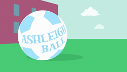 Size: 1920x1080 | Tagged: ashleigh ball, credits, equestria girls, equestria girls (movie), football, no pony, opening, opening credits, pun, safe, screencap, sports, text, theme song, visual pun