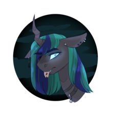 Size: 1104x1021 | Tagged: artist:jaysey, changepony, hybrid, interspecies offspring, kindverse, oc, oc:philia agape armet, offspring, parent:queen chrysalis, parent:shining armor, parents:shining chrysalis, piercing, safe, solo, unicorn